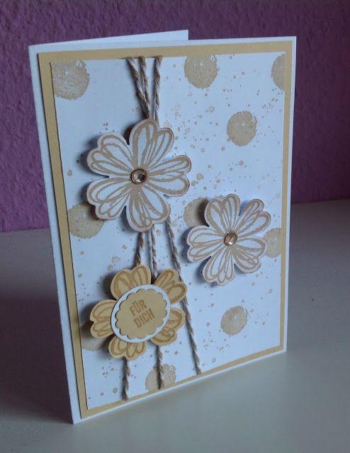 "Stempelmädels: Geburtstagskarte ""Hello Honey"" Flowershop"
