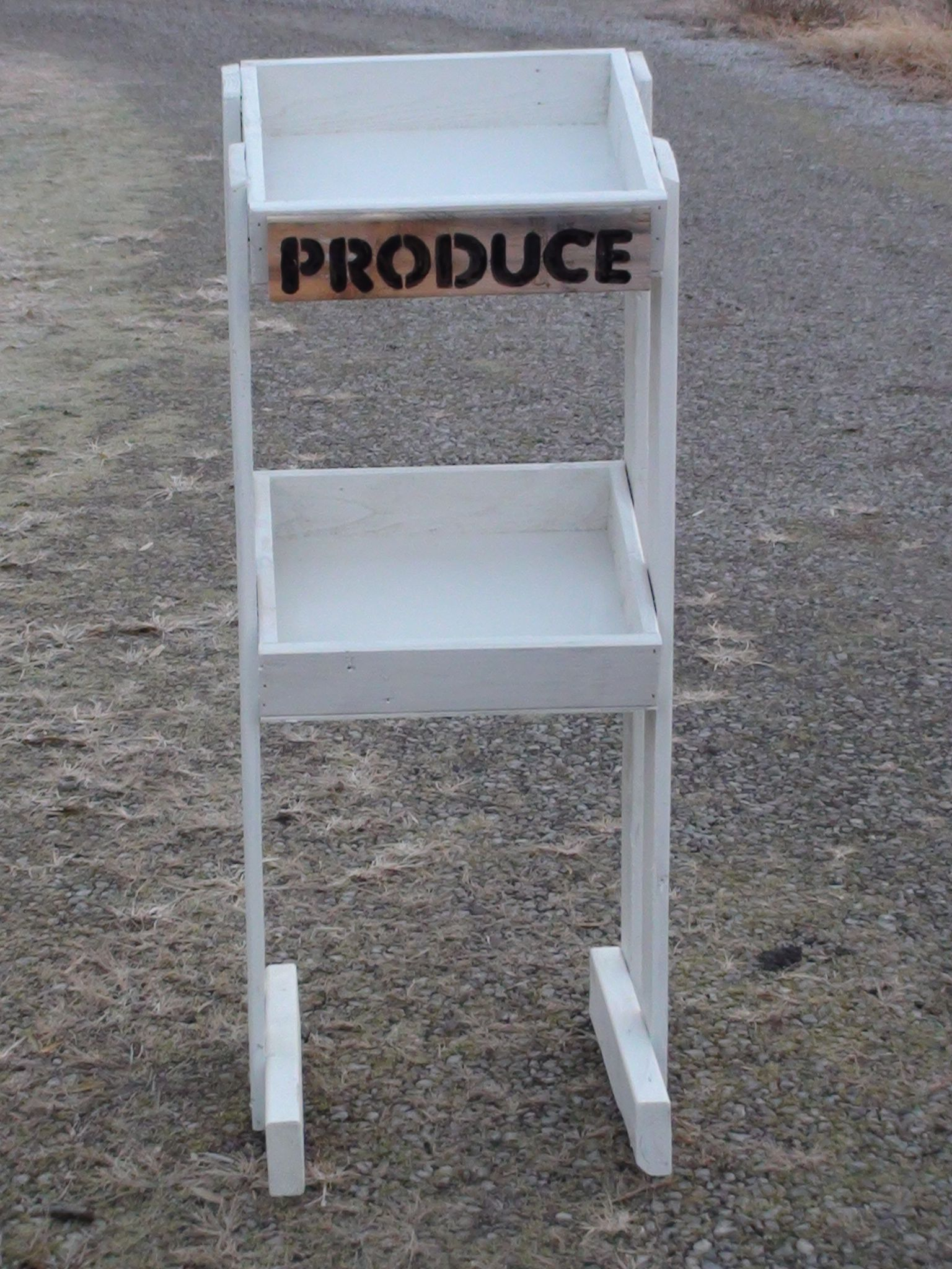 how to build a produce stand