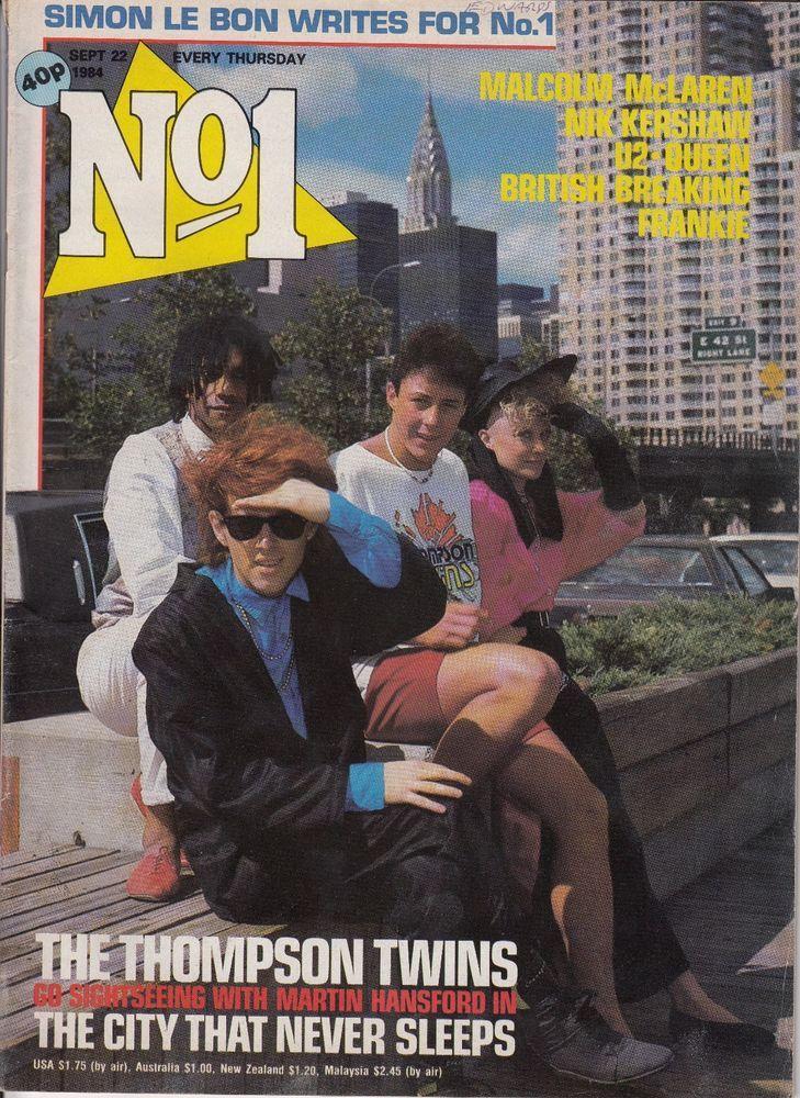 No.1 Music Magazine Sept 22 1984 Thompson Twins / Malcolm McLaren in