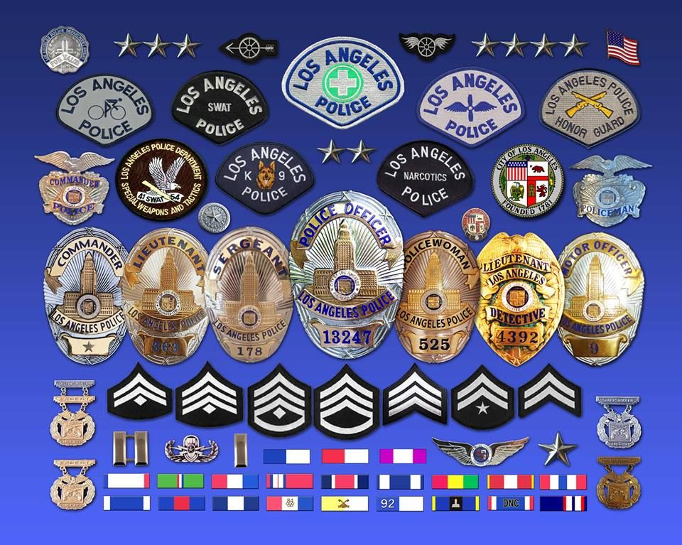 Pin By Lawenforcementtoday Com On Le Patches Badges Police Badge Los Angeles Police Department Lapd Badge
