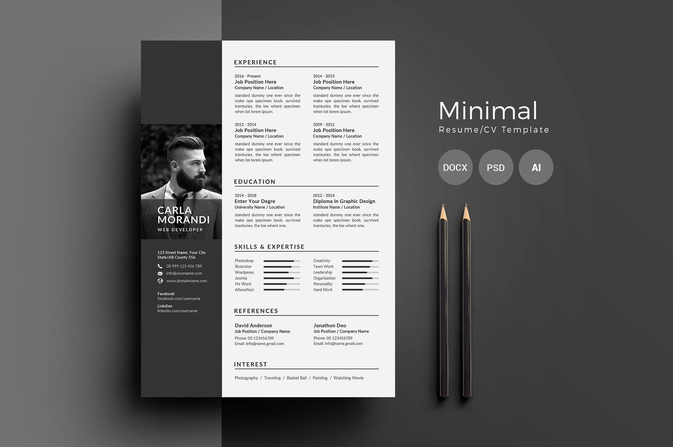 Resume Cv Modern Resume Design Resume Cv Resume