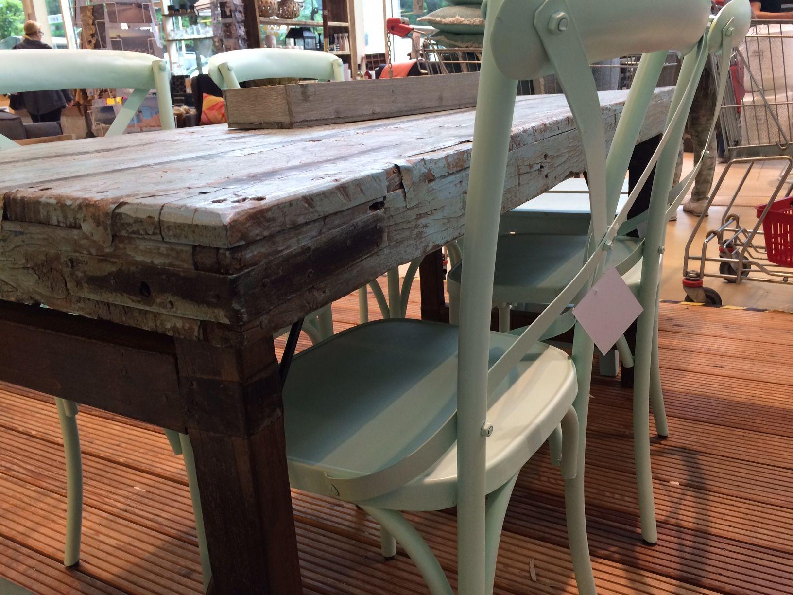 Shabby Chic Esstisch und Stühle, in Pastell-blau-grün von Boogs ...