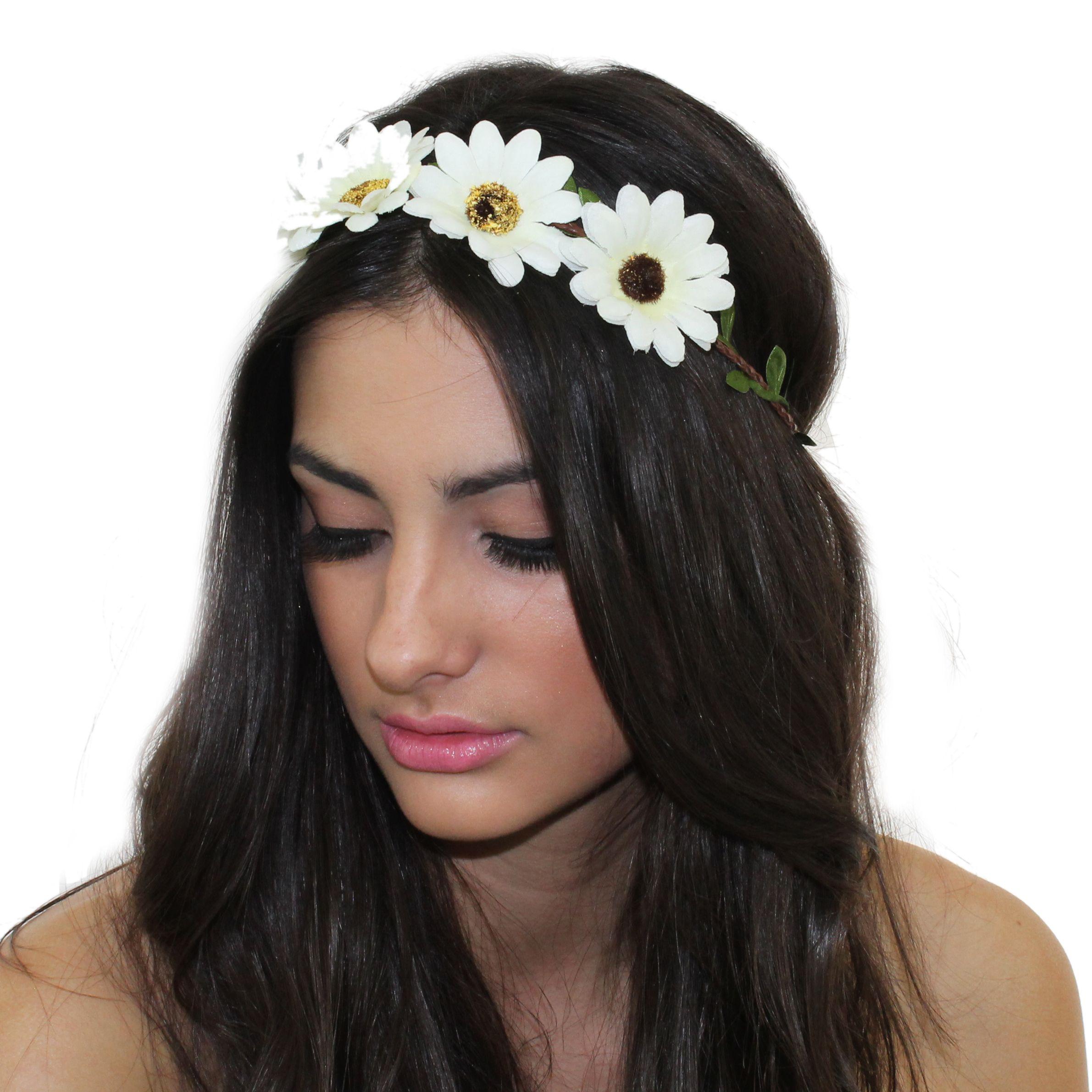 Dainty Daisy Flower Crown Kristin Perry Accessories Coachella