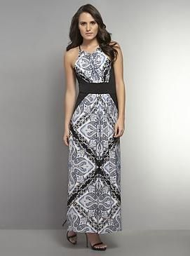 Paisley Print Sleeveless Maxi Dress