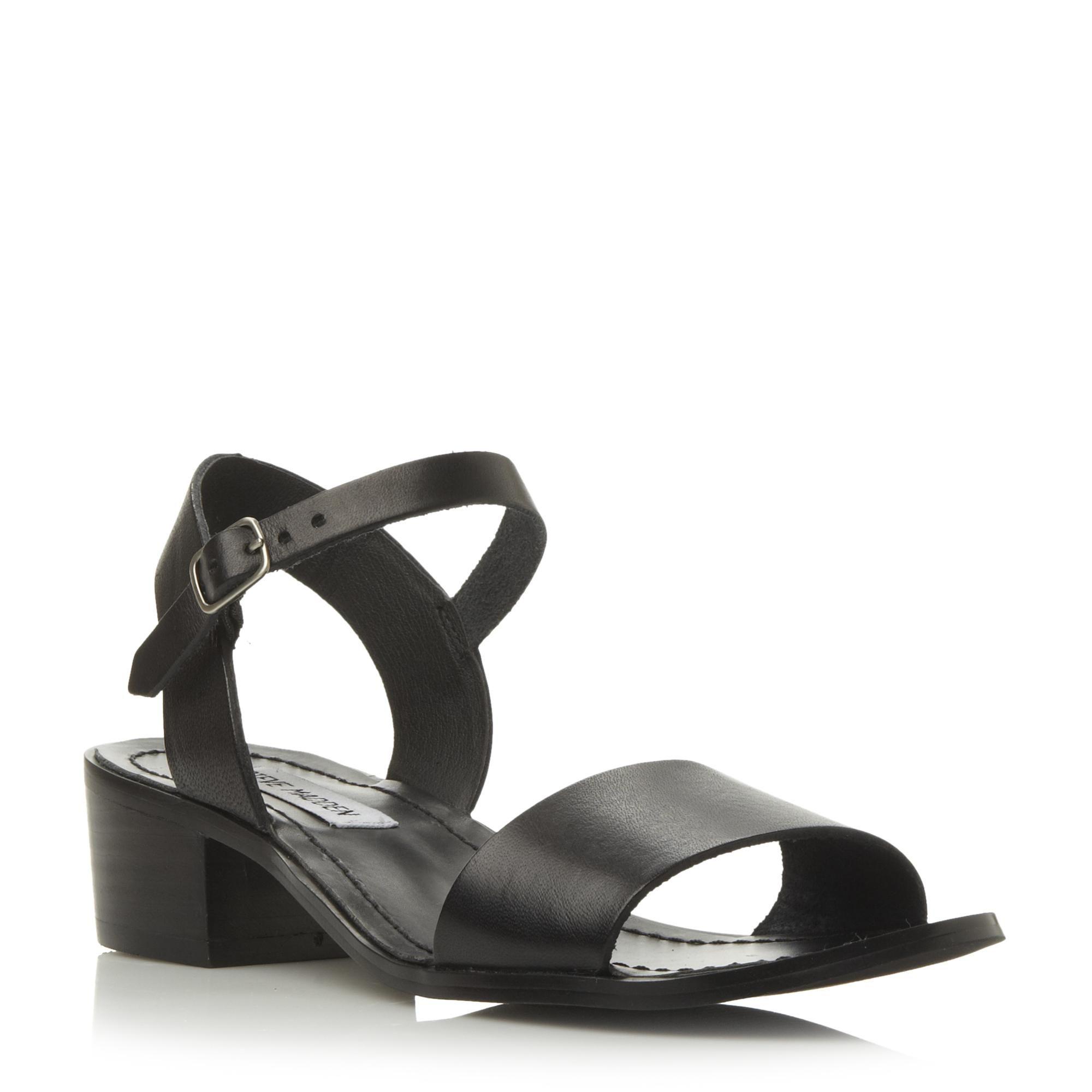 DENSE SM  Low Block Heel Sandal  black | Dune London