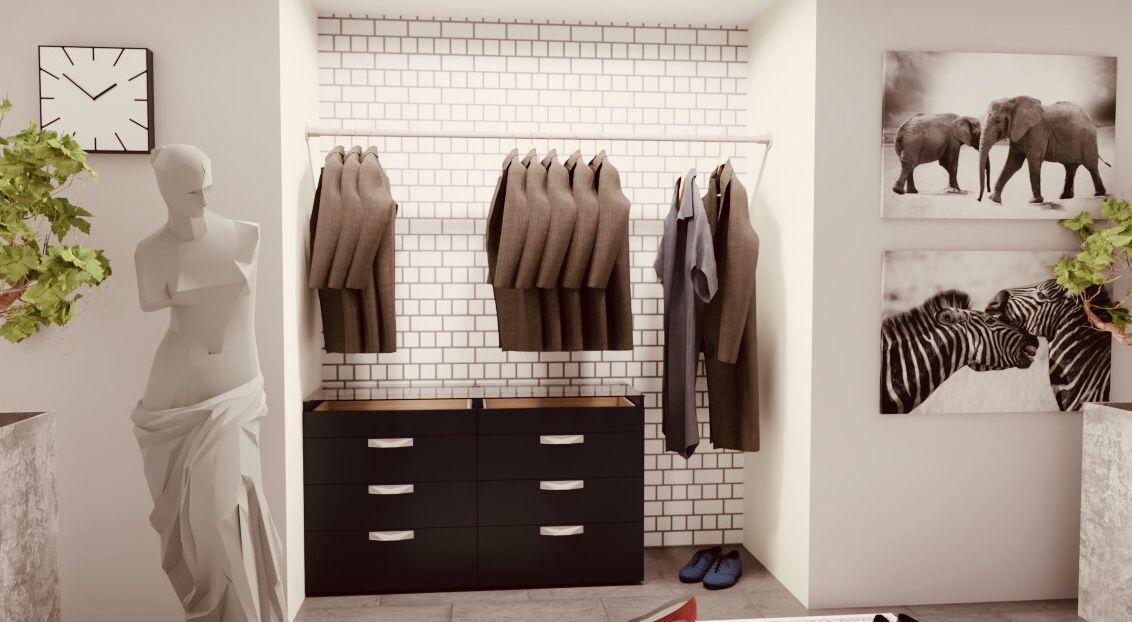 Häufig Kleiderstange zwischen zwei Wänden. Kleiderstange Wand NU06