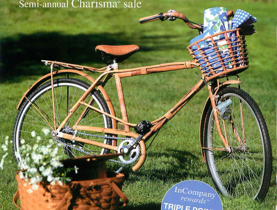 the spring 2010 the company store catalog had this wicker and wood ...