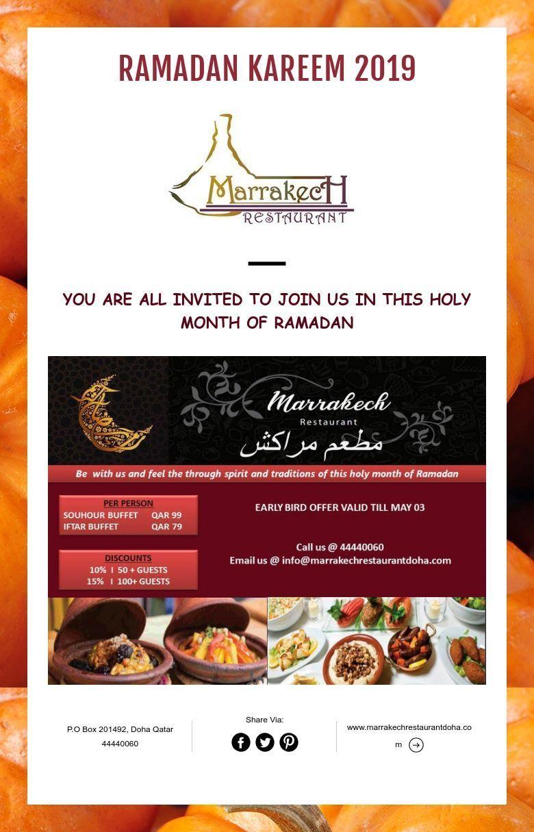 Marrakech Restaurant Ramadan 2019 Offer Iftar Ramadan Restaurant