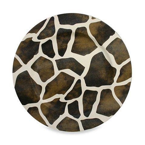 Giraffe Pattern Round Charger Plates (Set of 4) - BedBathandBeyond ...