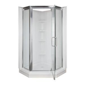 42 in x 42 in x 72 in Standard Fit Corner Shower Kit 403400 at