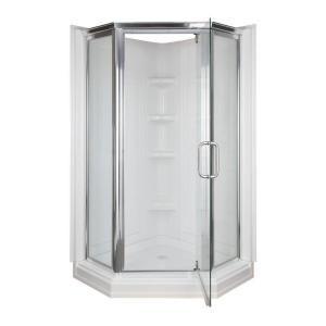42 In X 42 In X 72 In Standard Fit Corner Shower Kit 403400 At
