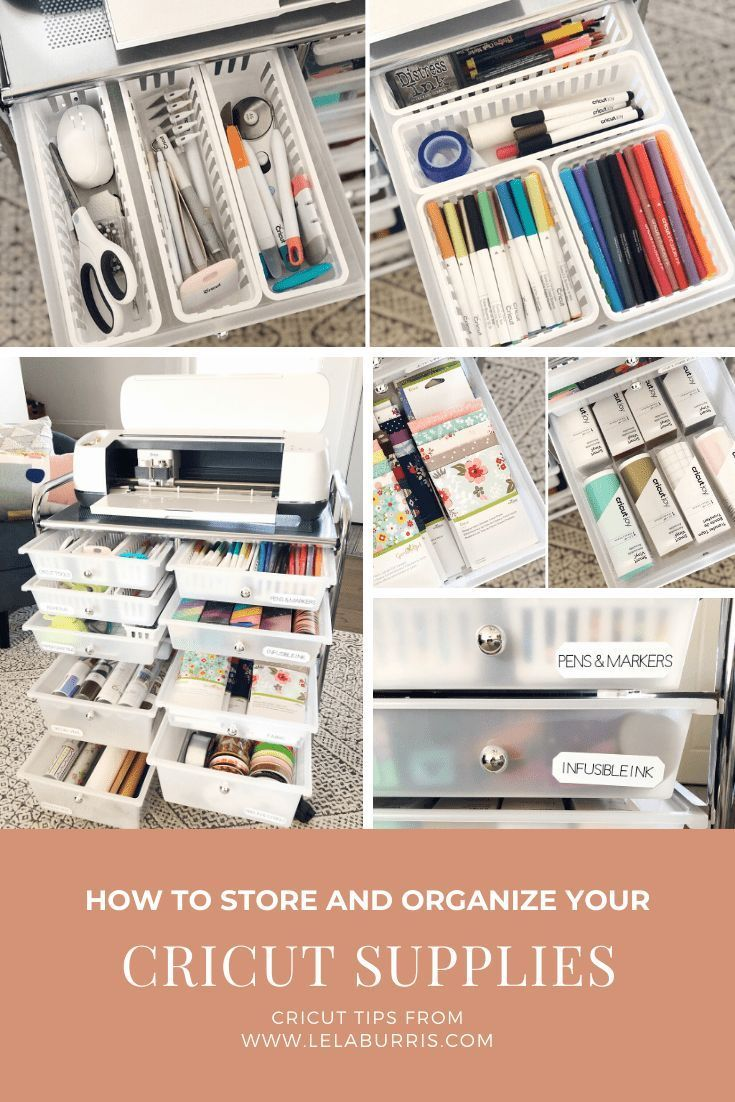 Getting organized with Cricut Maker #organization #cricutmaker #labels