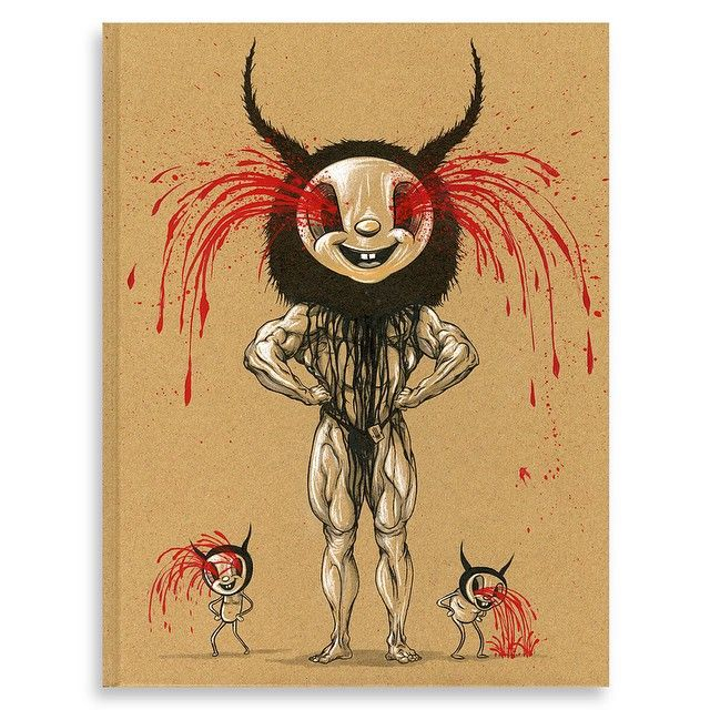 """Alex Pardee """"AWFUL RESILIENT"""" LIMITED SPECIAL EDITION BOOK with handpainted cover NUMBER ?/250"""