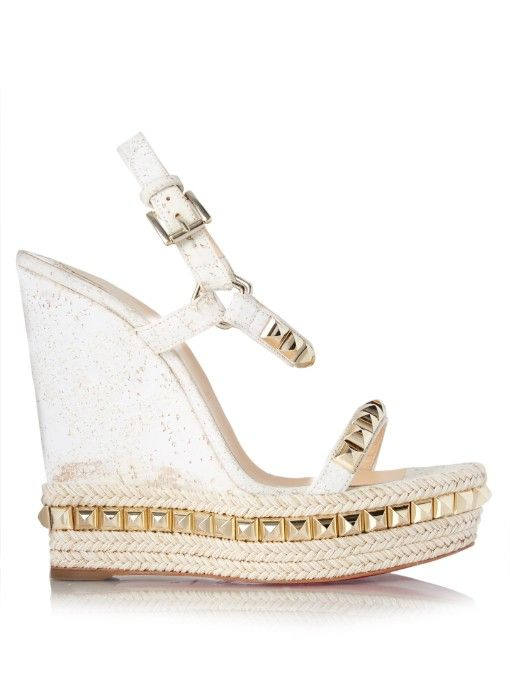 online store e1068 6c291 Christian Louboutin Cataclou embellished 140mm wedges ...
