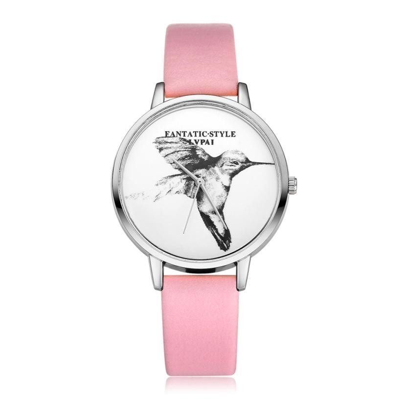 Fashion New Brand Watches Women Peak birds Quartz Wristwatch Clock ...