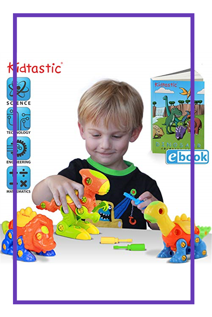 Kidtastic Dinosaur Toys - STEM Learning Original (106 ...