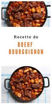 Photo of Bourguignon beef recipe-Recipe: Beef Bourguignon Beef Bur …