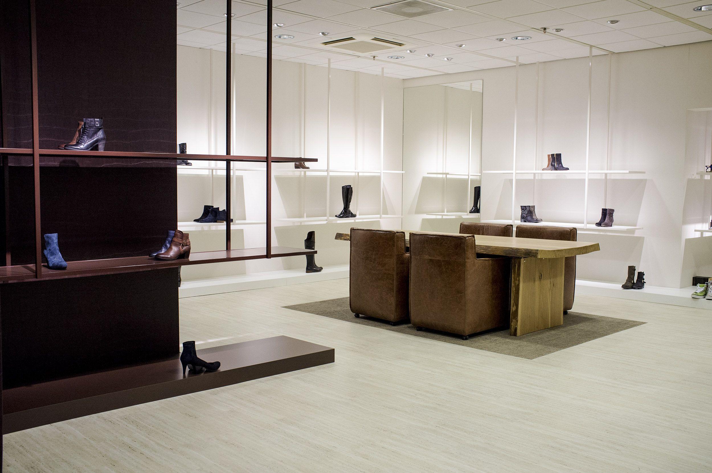 fijri maatwerk interieur schoenenwinkel sieben nieuwegein ontwerp m