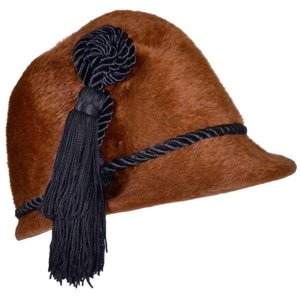 Preowned 1960 s Rare Ysl Yves Saint Laurent Vintage Faux Fur Cloche ... 8d77337ae775