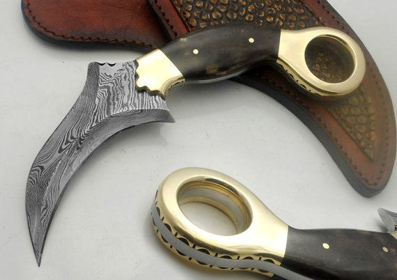 Custom Made Awesome Damascus Steel Karambit By