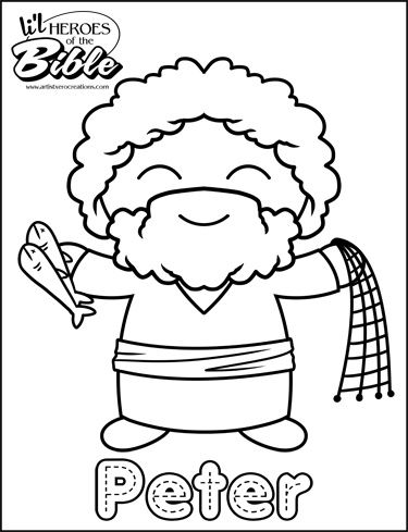 Lil Heroes Of The Bible Coloring Pages Great For Your VBS Sunday School Or Homeschool ActivitiesThese Are