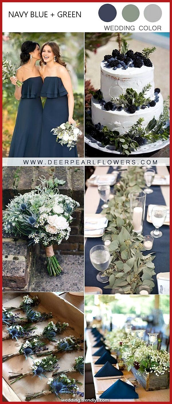 Luxurious concepts for the marriage shade of the navy and autumn inexperienced Informations About Fall Navy and Green