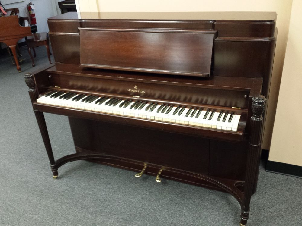 Steinway Upright Piano Art Deco Mfg 1940