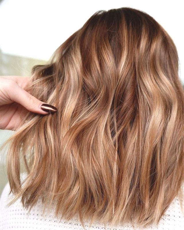 Kupfer-, gold-, honigblonde balayage haarfarbe #darkblondehair