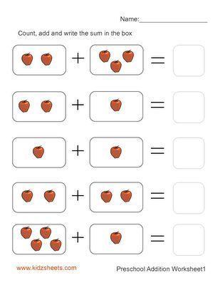 free printable kindergarten worksheets | Free Printable Preschool ...