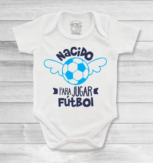 Bodys o mamelucos para bebé con lindos diseños de fútbol para ser de tu  hijo un gran deportista 5cd28a4d1b6