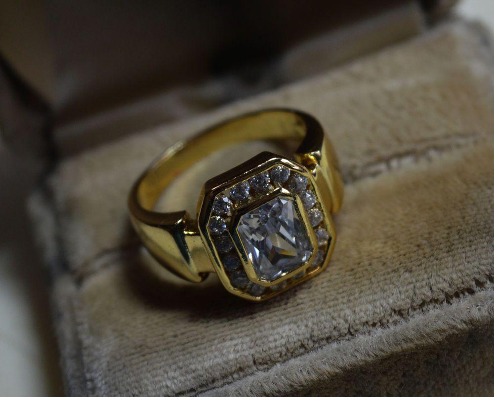 482893d93 Natural White Topaz 14k gold ring, size 9 1/2, S 1/2, vintage ...
