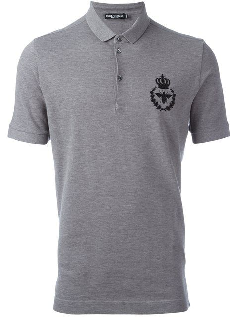 8ebafd6c8 DOLCE & GABBANA Embroidered Crown & Bee Polo Shirt. #dolcegabbana #cloth # shirt