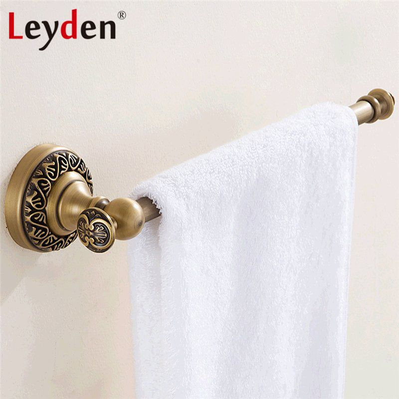 Leyden Luxury Antique Brass Towel Ring Holder Towel Rings Wall Mounted Towel Rail Solid Brass Wall Mounted Towel Rail Towel Ring Bathroom Bathroom Accessories