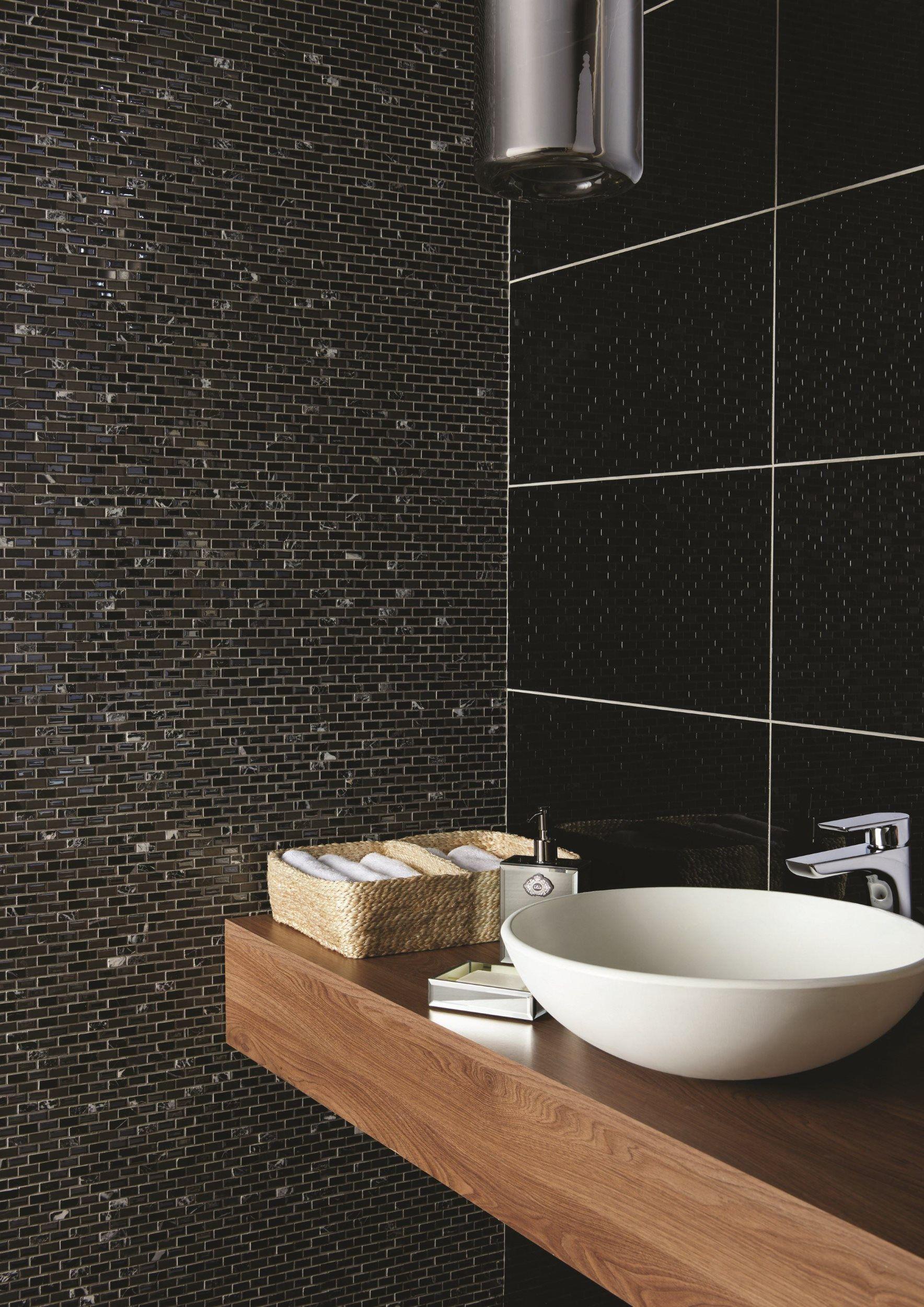 Kauali brickbond mosaics feature a fix of stone, metal and glass ...