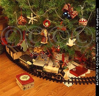 Someday... Christmas tree train set. | Model Trains and ...