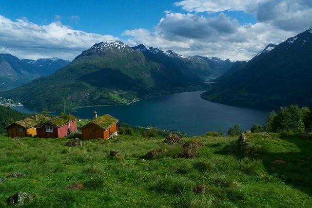 Loen Stryn Norge Sommer Og Lillehammer