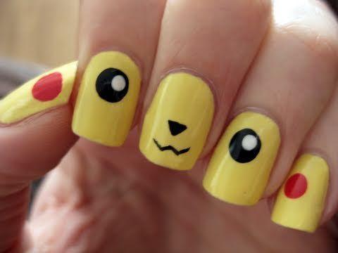25 Super Cute Kid-Approved Nail Art Designs | Babble - 25 Super Cute Kid-Approved Nail Art Designs Pikachu Nails, Pokémon