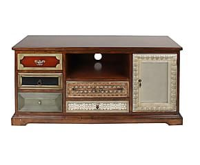 Tavolino Tv ~ Porta tv a cassetti e scomparto in legno cm