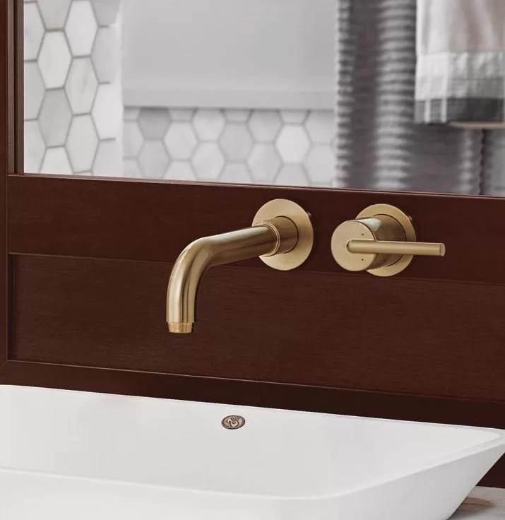 Wall mount faucet bathroom sink