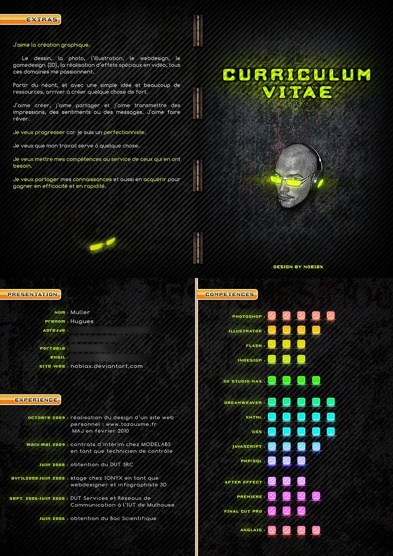 Curriculum Vitae C V By Nobiax Deviantart Com On Deviantart