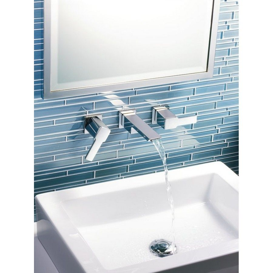 Shop Moen 90 Degree Chrome 2-Handle Widespread WaterSense Bathroom ...