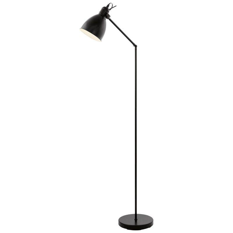 Podna Lampa Priddy 49471 Eglo Black Floor Lamp Floor Lamp Lamp