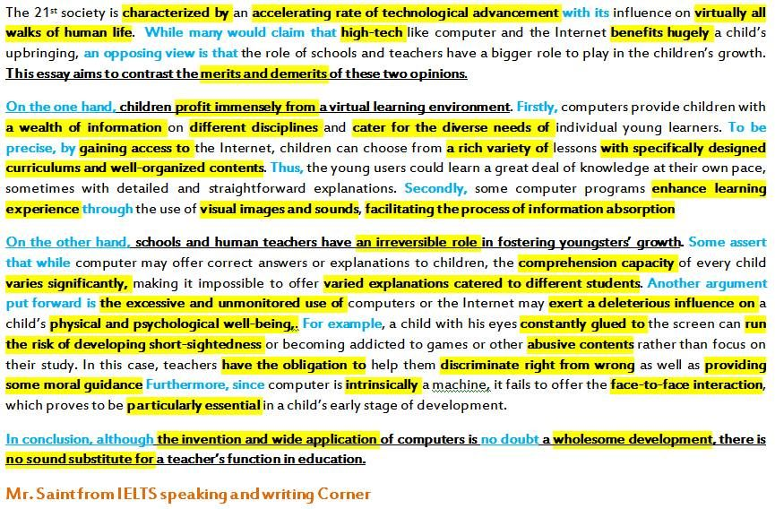 essay writing on computers Here given is a strong paper template, discussing the progress of computer  technology feel free to use the following sample to boost your writing skills.