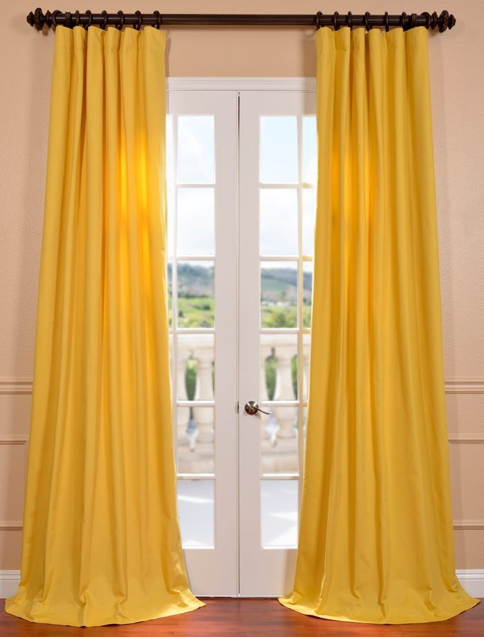 Mustard Yellow Cotton Twill Curtain | Alice Cervantes Top ...