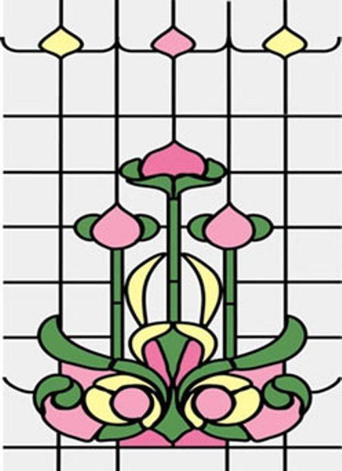 Simulated Stain Glass #SLIM10 dollhouse miniature door insert 1//12 scace