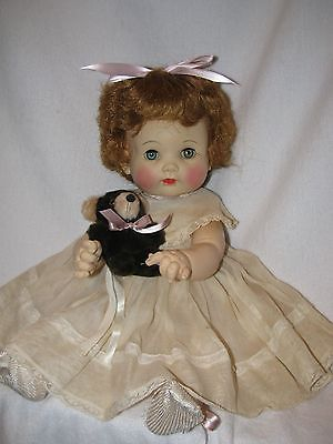 "Vintage 17"" Effanbee  Dy-Dee Darlin Baby Doll With Bear"