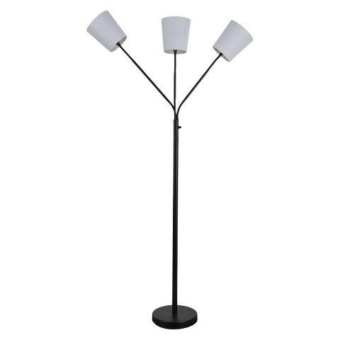 Room Essentials™ 3-Head Floor Lamp with Fabric Shades- $39.99 ...