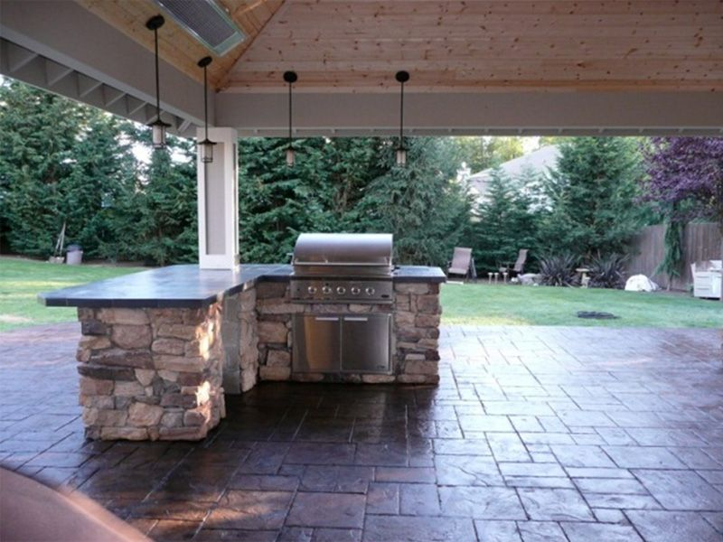 covered patios Covered Patio with Outdoor Kitchen in Duvall