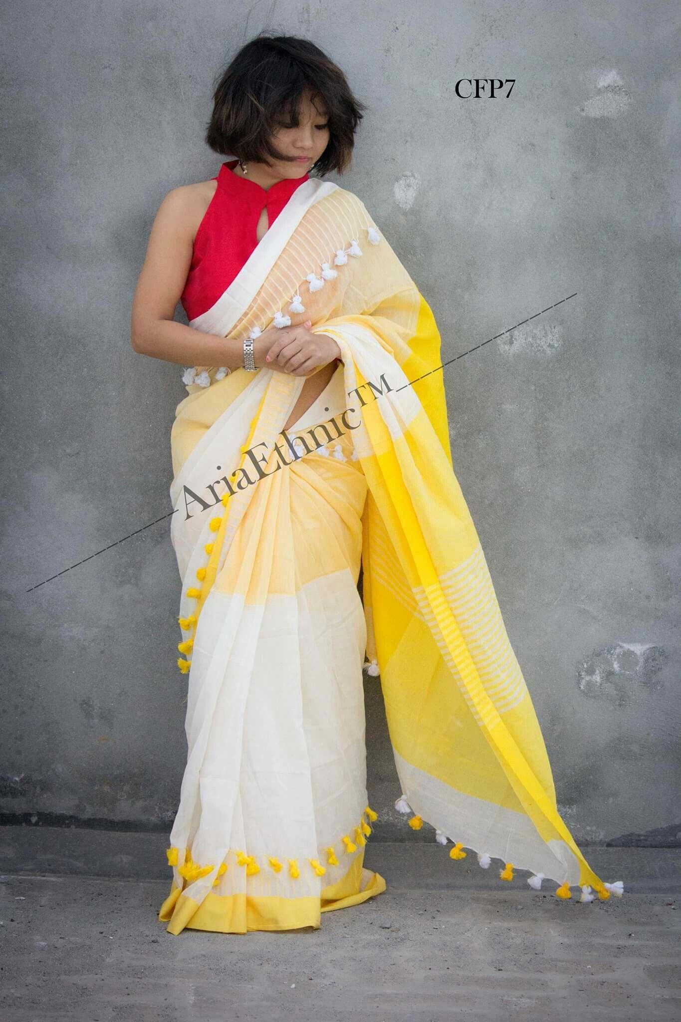 Yellow cotton saree for wedding pin by deepali nk on cotton sarees  pinterest  saree saris and