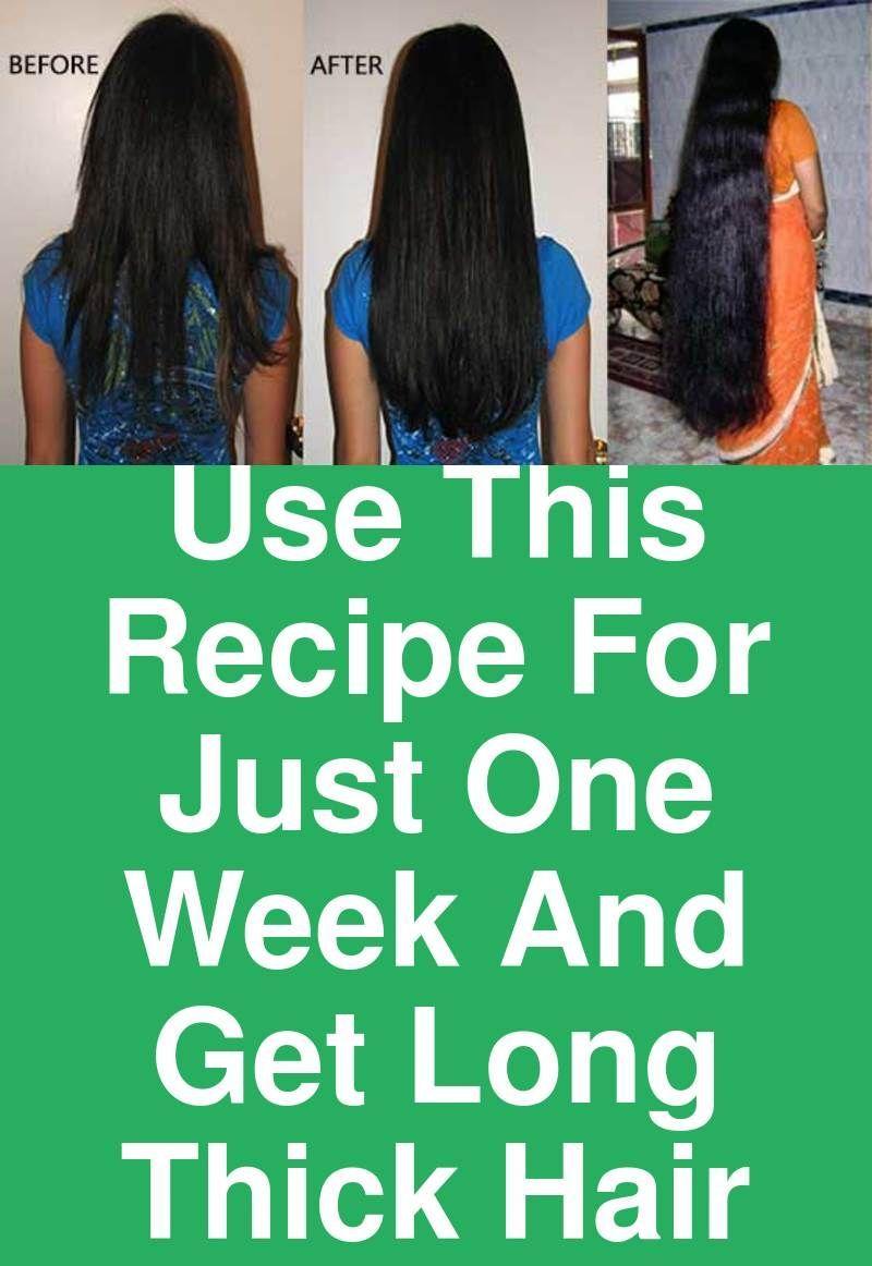 Use This Recipe For Just One Week And Get Long Thick Hair